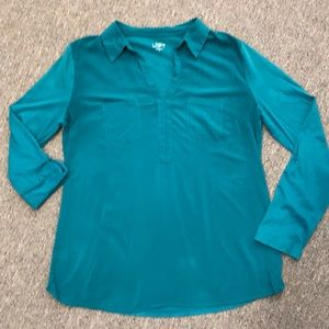LOFT Utility Blouse Medium